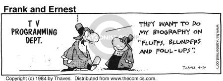 Comic Strip Bob Thaves Tom Thaves  Frank and Ernest 1984-04-30 programming