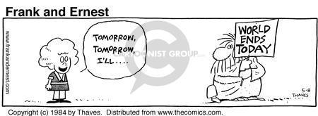 Comic Strip Bob Thaves Tom Thaves  Frank and Ernest 1984-05-08 pessimistic