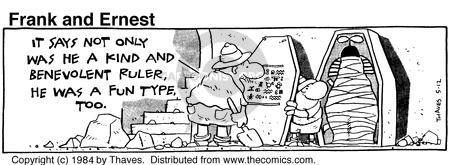 Comic Strip Bob Thaves Tom Thaves  Frank and Ernest 1984-05-12 ruler