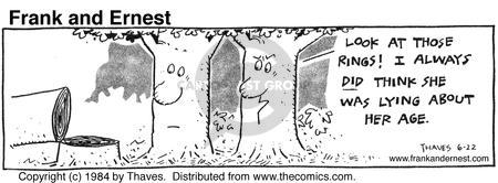 Comic Strip Bob Thaves Tom Thaves  Frank and Ernest 1984-06-22 trunk