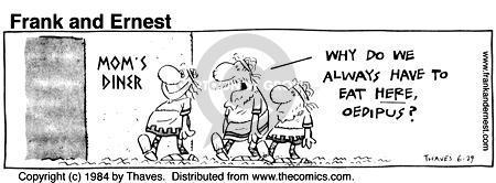 Comic Strip Bob Thaves Tom Thaves  Frank and Ernest 1984-06-29 greek