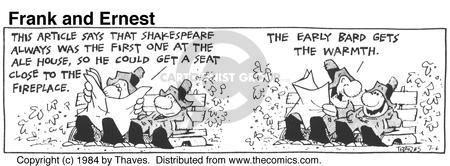 Cartoonist Bob Thaves Tom Thaves  Frank and Ernest 1984-07-06 phrase