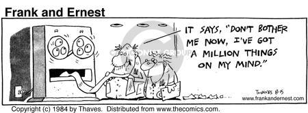 Cartoonist Bob Thaves Tom Thaves  Frank and Ernest 1984-08-15 data