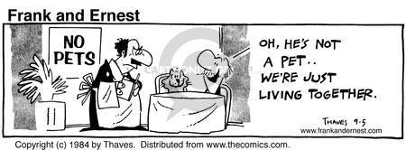 Comic Strip Bob Thaves Tom Thaves  Frank and Ernest 1984-09-05 waiter