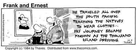 Comic Strip Bob Thaves Tom Thaves  Frank and Ernest 1984-10-03 clothes