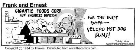 Comic Strip Bob Thaves Tom Thaves  Frank and Ernest 1984-10-10 meeting