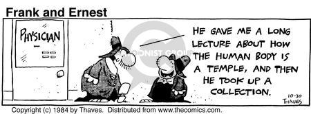 Comic Strip Bob Thaves Tom Thaves  Frank and Ernest 1984-10-30 body