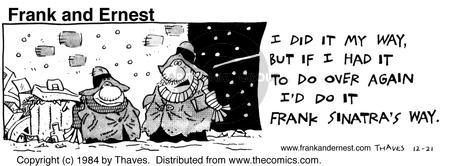 Comic Strip Bob Thaves Tom Thaves  Frank and Ernest 1984-12-21 lifestyle
