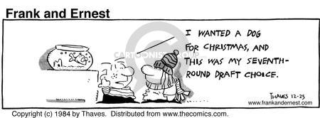 Comic Strip Bob Thaves Tom Thaves  Frank and Ernest 1984-12-25 boy
