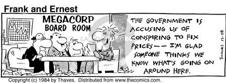 Comic Strip Bob Thaves Tom Thaves  Frank and Ernest 1984-12-28 board meeting