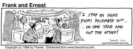 Comic Strip Bob Thaves Tom Thaves  Frank and Ernest 1984-12-31 December