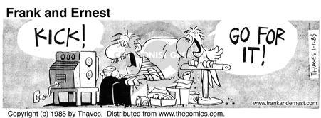 Comic Strip Bob Thaves Tom Thaves  Frank and Ernest 1985-01-01 den