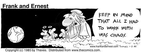 Comic Strip Bob Thaves Tom Thaves  Frank and Ernest 1985-01-03 earth
