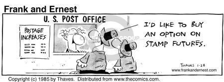 Comic Strip Bob Thaves Tom Thaves  Frank and Ernest 1985-01-28 letter