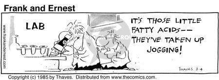 Cartoonist Bob Thaves Tom Thaves  Frank and Ernest 1985-03-04 fat