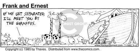 Cartoonist Bob Thaves Tom Thaves  Frank and Ernest 1985-03-19 landmark