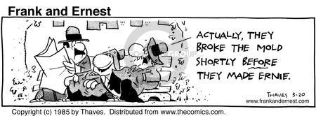 Comic Strip Bob Thaves Tom Thaves  Frank and Ernest 1985-03-20 manufacture
