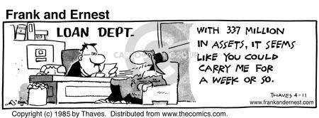 Comic Strip Bob Thaves Tom Thaves  Frank and Ernest 1985-04-11 Lent