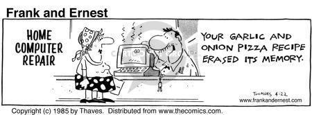 Comic Strip Bob Thaves Tom Thaves  Frank and Ernest 1985-04-22 computer