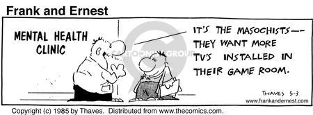 Comic Strip Bob Thaves Tom Thaves  Frank and Ernest 1985-05-03 programming