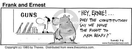 Comic Strip Bob Thaves Tom Thaves  Frank and Ernest 1985-05-06 second amendment