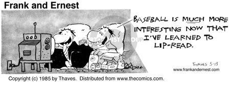 Comic Strip Bob Thaves Tom Thaves  Frank and Ernest 1985-05-13 baseball
