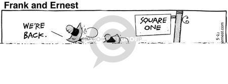 Cartoonist Bob Thaves Tom Thaves  Frank and Ernest 1985-05-21 phrase
