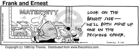 Cartoonist Bob Thaves Tom Thaves  Frank and Ernest 1985-05-24 optimist