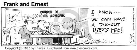 Comic Strip Bob Thaves Tom Thaves  Frank and Ernest 1985-06-19 tax refund