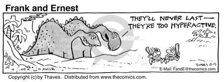 Comic Strip Bob Thaves Tom Thaves  Frank and Ernest 1985-08-15 species extinction