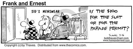 Comic Strip Bob Thaves Tom Thaves  Frank and Ernest 1985-09-16 tailor