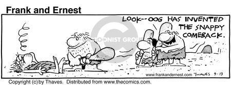 Cartoonist Bob Thaves Tom Thaves  Frank and Ernest 1985-09-19 hit man