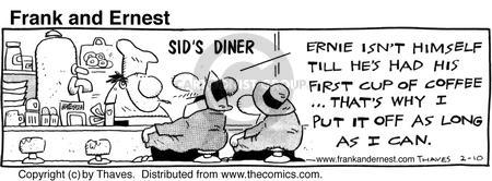 Cartoonist Bob Thaves Tom Thaves  Frank and Ernest 1986-02-10 affect