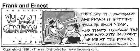 Comic Strip Bob Thaves Tom Thaves  Frank and Ernest 1986-03-15 usually