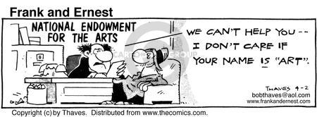 Comic Strip Bob Thaves Tom Thaves  Frank and Ernest 1986-04-02 organization