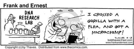 Comic Strip Bob Thaves Tom Thaves  Frank and Ernest 1986-04-03 genetic cloning