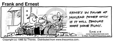 Comic Strip Bob Thaves Tom Thaves  Frank and Ernest 1986-04-08 baseball