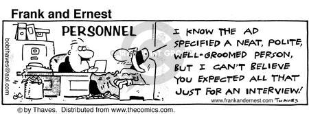 Comic Strip Bob Thaves Tom Thaves  Frank and Ernest 1986-05-06 employee