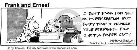 Cartoonist Bob Thaves Tom Thaves  Frank and Ernest 1986-06-13 harm