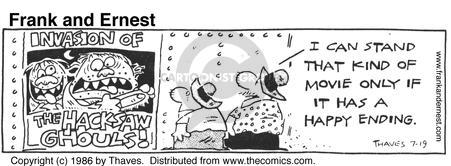 Comic Strip Bob Thaves Tom Thaves  Frank and Ernest 1986-07-19 invasion