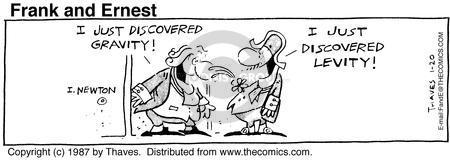 Cartoonist Bob Thaves Tom Thaves  Frank and Ernest 1987-01-20 innovator