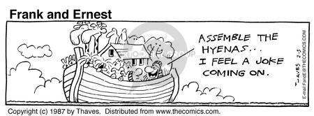 Comic Strip Bob Thaves Tom Thaves  Frank and Ernest 1987-02-05 boat