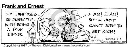 Comic Strip Bob Thaves Tom Thaves  Frank and Ernest 1987-03-05 congregation
