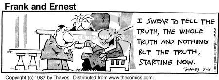 Comic Strip Bob Thaves Tom Thaves  Frank and Ernest 1987-05-08 precision