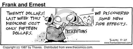 Comic Strip Bob Thaves Tom Thaves  Frank and Ernest 1987-05-20 maintenance cost