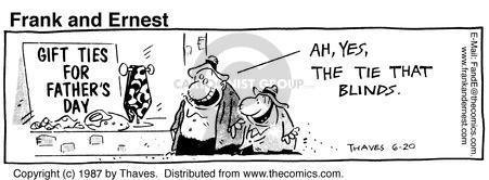 Comic Strip Bob Thaves Tom Thaves  Frank and Ernest 1987-06-20 sign
