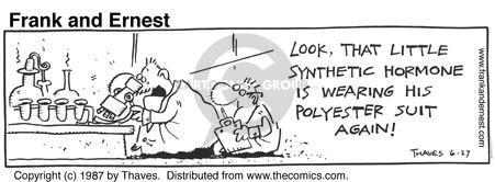 Cartoonist Bob Thaves Tom Thaves  Frank and Ernest 1987-06-27 biologist