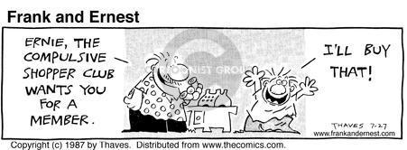 Comic Strip Bob Thaves Tom Thaves  Frank and Ernest 1987-07-27 impulse