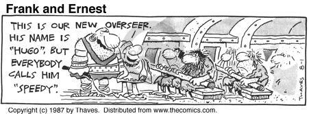 Comic Strip Bob Thaves Tom Thaves  Frank and Ernest 1987-08-01 serf