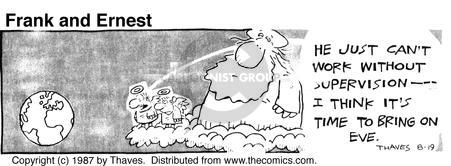 Comic Strip Bob Thaves Tom Thaves  Frank and Ernest 1987-08-19 bible
